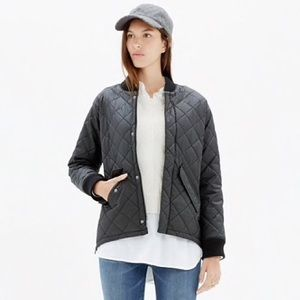 Madewell Quilted Session Bomber Jacket